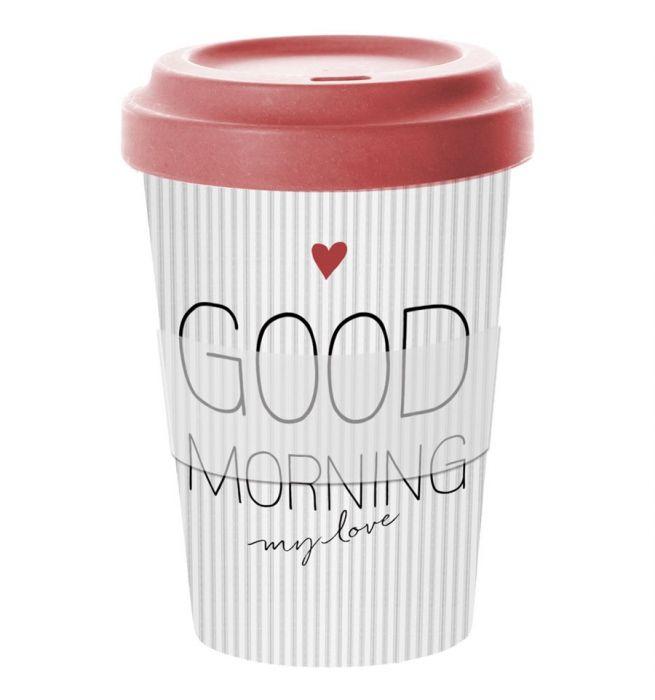 Ppd Coffee To Go Beker Bamboe Good Morning Love 400 Ml Kopen