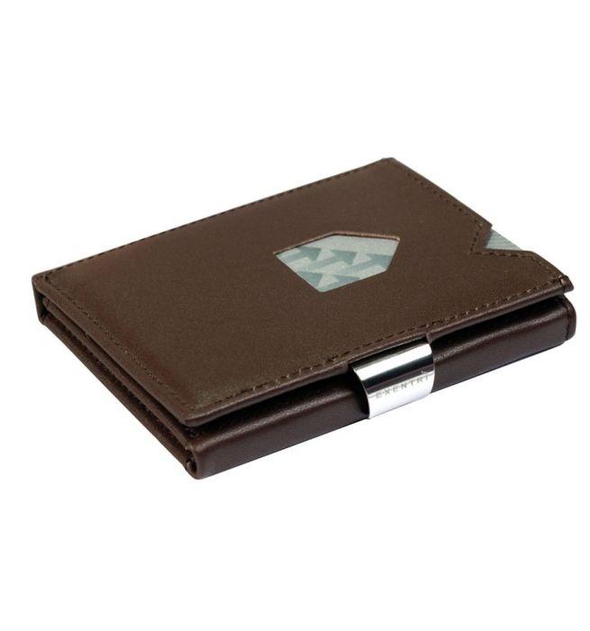 Portemonnee Bruin Leer.Exentri Wallet Rfid Portemonnee Bruin Leer