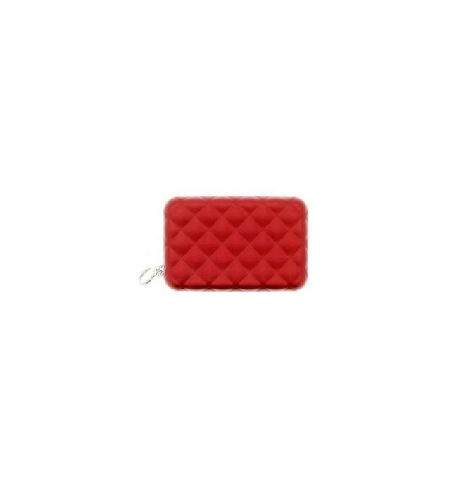77ac24b5923 Ogon Designs aluminium portemonnee quilt editie met ritssluiting - Rood -  3760127778462