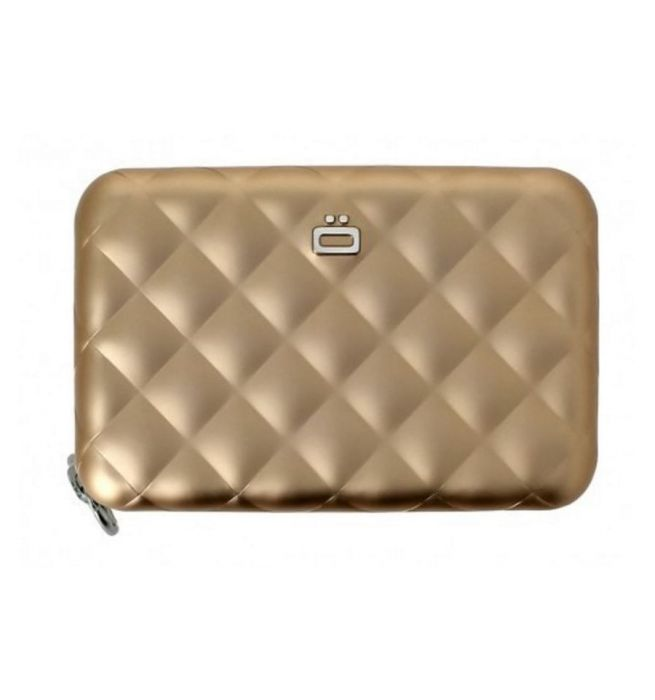 826bfbc7c7f Ogon Designs aluminium portemonnee quilt editie met ritssluiting - Rose  goud - 3760127778325
