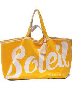 Riviera Maison Soleil Summer Bag - Strandtas - Canvas - Yellow