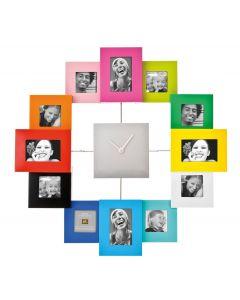 Pt wandklok met fotolijstjes Family Time - Multi - 8714302273810
