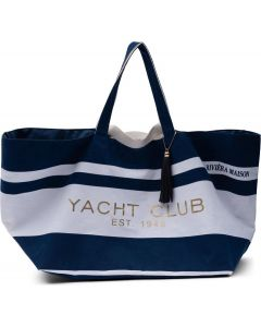 Riviera Maison Yacht Summer Bag - Strandtas - Canvas - Blue / White