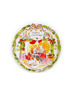 Blond Amsterdam bord 22 cm Girl Merry Christmas - Kerst - 8719416025614