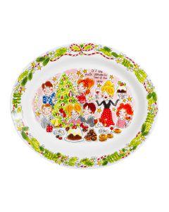 Blond Amsterdam ovale schaal 36 cm Christmas - Kerst