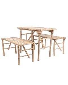 Leitmotiv Tafelset Bamboo  - Natural - 109555