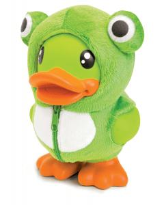 Bduck  spaarpot eend met groen kikkerpakje