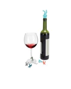 Umbra glasmarkers en wijnstop mannetjes Drinking Buddy - 100029