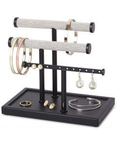 Umbra sieradenhouder Trigem laag model met 3 rijen - zwart