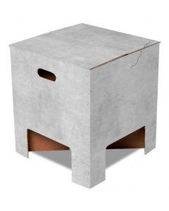 Dutch Design Brand kartonnen krukje - Beton - Concrete - 107950