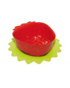Zak! Designs Vergiet aardbei met onderzetter - Rood - 101250