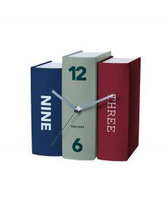 Karlsson staande boekenklok - Rood - groen - blauw - 105653