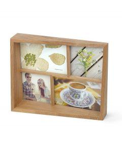 Umbra houten multi fotolijst voor 4 foto's Edge - Naturel Hout - 105557