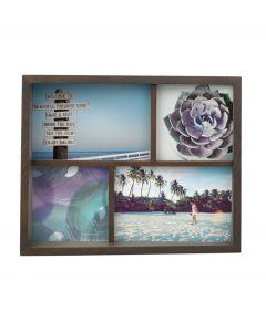 Umbra houten multi fotolijst voor 4 foto's Edge - Walnoot - 105558