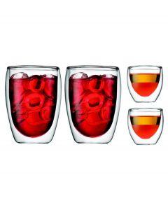Bodum set van 4 dubbelwandige pavina glazen - 105488
