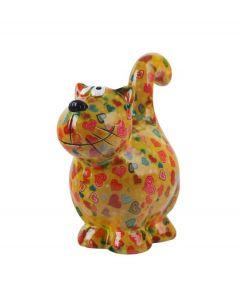 Pomme Pidou spaarpot kat Dorothy - Groen met harten - 105809