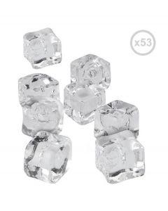 Balvi kunststof decoratie ijsblokjes - 53 stuks - 105836