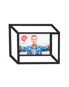Balvi wand fotolijst met 2D effect voor 10 x 15 cm foto Tratto - Zwart - 105844