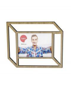 Balvi wand fotolijst met 2D effect voor 10 x 15 cm foto Tratto - Hout - 105845