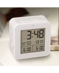 Bon digitale wekker met multi alarm functie Vision - Wit - 106098
