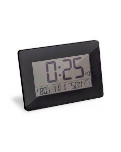Bon wand of tafelklok met alarm - datum en temperatuur Espace - Zwart - 106101