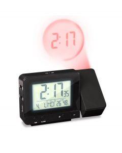 Bon digitale wekker met projectie - datum en temperatuur Stellar - Zwart - 106099