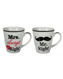 Out of the Blue set van 2 bekers Mr Right & Mrs Always Right - 105946