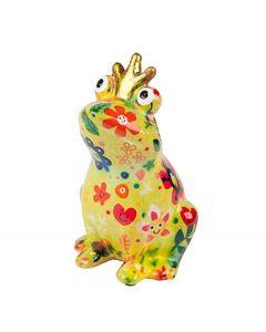 Pomme Pidou brilhouder kikker Theo - Groen met bloemen met gezichten - 106475
