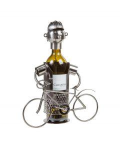Out of the Blue wijnstandaard metaal wielrenner - 106828
