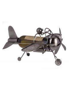 Out of the Blue wijnstandaard metaal piloot in vliegtuig - 106825
