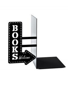 Balvi boekensteun The bookshop zwart metaal - 106946