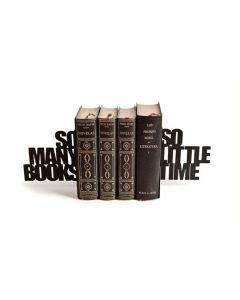 Balvi boekensteun So many zwart metaal set van 2 stuks - 106942