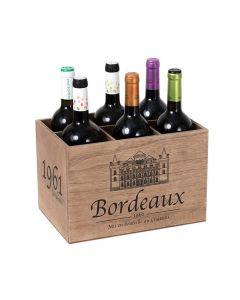 Balvi wijnrek Bordeaux 1961 hout voor 6 flessen - 107001