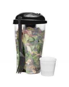 Sagaform Salade meeneem beker To Go - Zwart - 107099