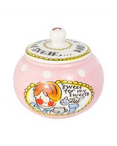 Blond Amsterdam suikerpot - Even bijkletsen - 105989