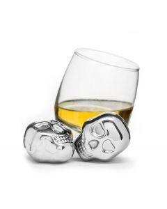 Sagaform set van 2 whiskey stenen doodskop rvs - 107092