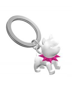 Metalmorphose sleutelhanger hond bulldog wit Guard - 107414