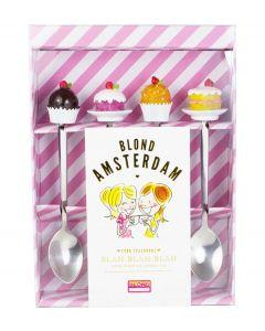 Blond Amsterdam set van 4 theelepels - Even bijkletsen - 107440
