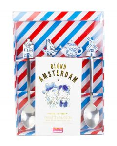 Blond Amsterdam set van 4 theelepels - Delfts Blond - 107456