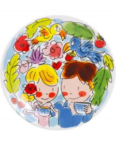 Blond Amsterdam petit four 12 cm blauw - Paradise - 107482
