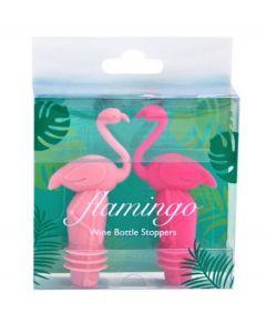 Invotis set van 2 flessenstoppen Flamingo - 107796