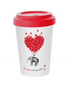 PPD coffee to go beker bamboe Love carries all 400 ml - 107852