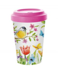 PPD coffee to go beker bamboe Spring Bird 400 ml - 107854