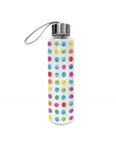 PPD glazen waterfles Aquarell Dots 550 ml - 107859