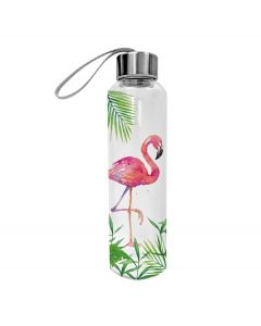 PPD glazen waterfles Tropical Flamingo 550 ml - 107860