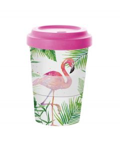 PPD coffee to go beker bamboe Tropical Flamingo 400 ml - 107850