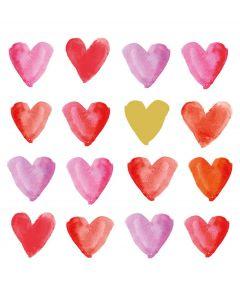 PPD set van 20 servetten met harten - 107844