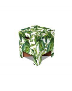 Dutch Design Brand kartonnen krukje - Groene bladeren - Green Leaves - 107949