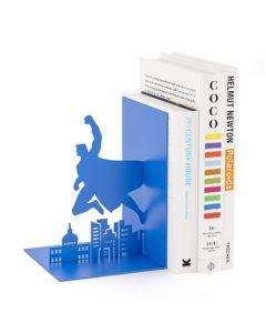 Balvi boekensteun Superheld Blauw Metaal - 107952