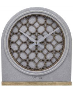 Nextime Staande klok Concrete Love Table Donker Hout - 108094